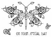Woodware - Deco Dragonfly - Clear Magic Stamp Set - FRS631
